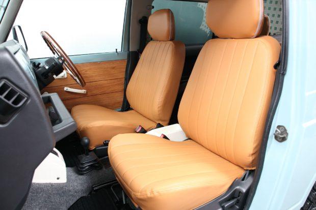 JA22にフルオーダーシートカバー装着です! キャメル×キャメルステッチ仕様